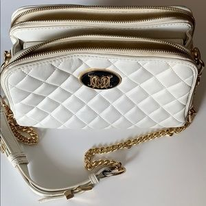 ❌SOLD❌Love moschino cross body white leather h